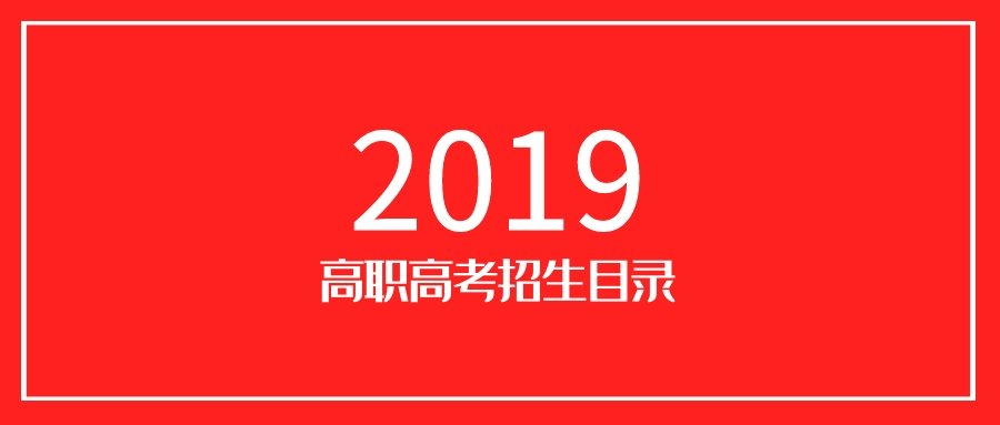 2019年高职高考招生专业目录