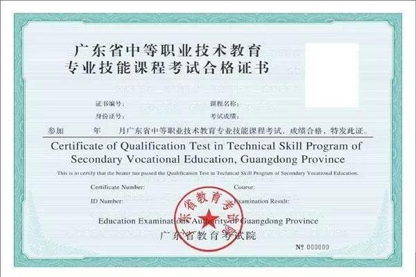 2019年广东省专业技能课程考试顺利结束!